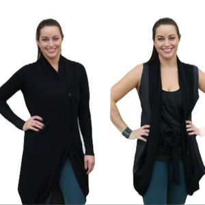 Lululemon Intuition Sweater Wrap Black and Coal